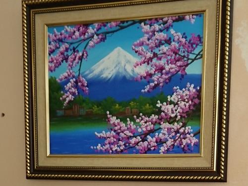 ベトナムから見た富士山の絵画