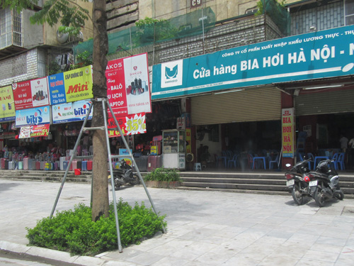 ベトナム・ハノイの商店街