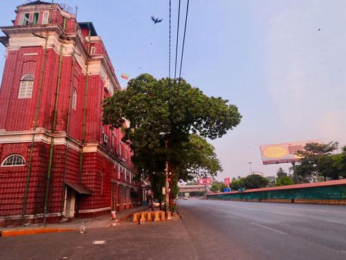 ヤンゴン市街